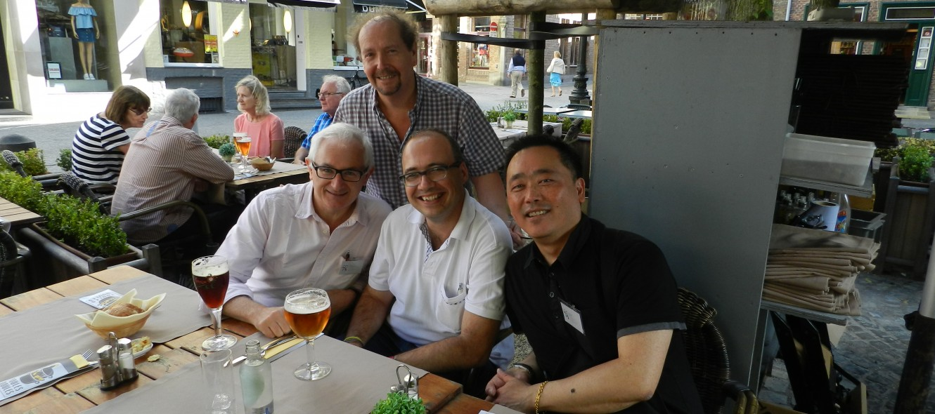 Con Manny Ling, Ewan Clayton y David Annwn (Calligraphy Symposium-Writing, 2015, Bruges)